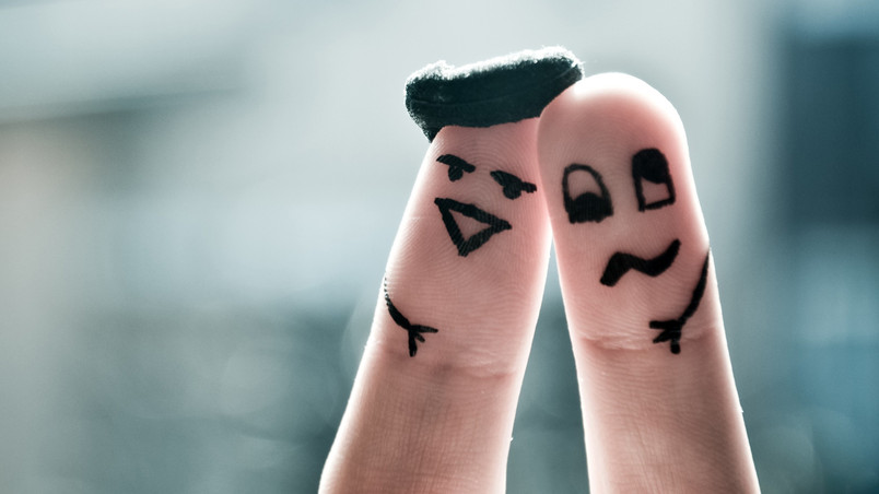 Funny Finger Faces wallpaper