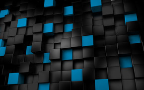 Black & Blue Cubes