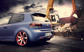 BBM VW Golf 6 Rear wallpaper