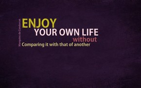 Enjoy Your Life Quote wallpaper