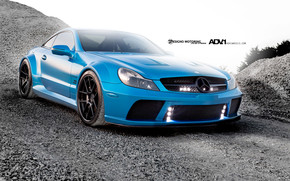 Turquoise ADV Wheels Mercedes SL65 wallpaper