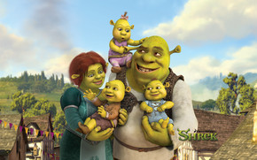 Shreks Family wallpaper