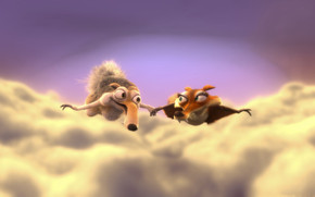 Scrat and Scratte wallpaper