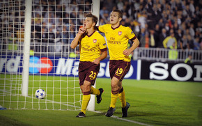 Andrey Arshavin and Jack Wilshere wallpaper