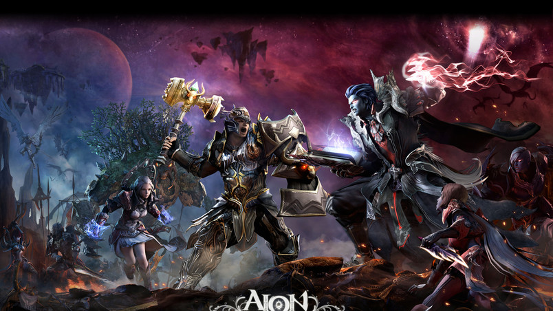 Aion The Tower of Eternity Characters wallpaper