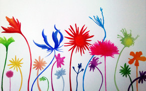 Flower Mural wallpaper
