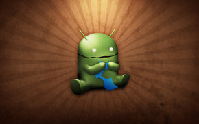 Funny Android Eating wallpaper