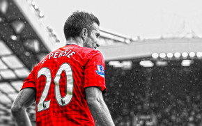 Robin van Persie Black and Red wallpaper