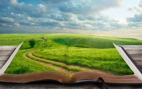 Green World Book wallpaper
