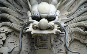 Chinese Dragon Statue wallpaper