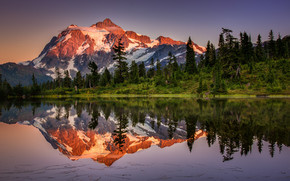 Superb Lake Reflection Landscape wallpaper