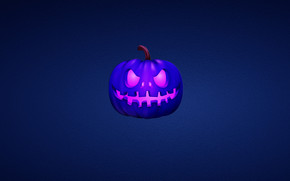 Blue Scary Pumpkin wallpaper