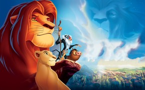Lion King Simba and Friends wallpaper