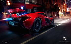 Red McLaren P1 Hypercar Concept