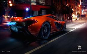 Orange McLaren P1 Hypercar Concept