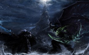 Illidan vs Arthas wallpaper