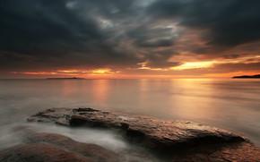 Cloudy Sunset Landscape