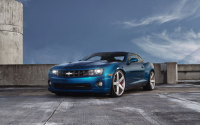 Blue Chevrolet Camaro SS wallpaper