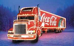 CocaCola Christmas Truck wallpaper