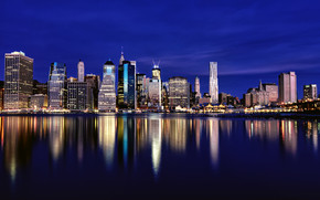New York River Side View wallpaper