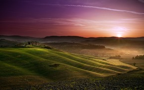 Sunset in Tuscany wallpaper