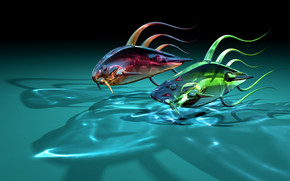 Fishes Race wallpaper