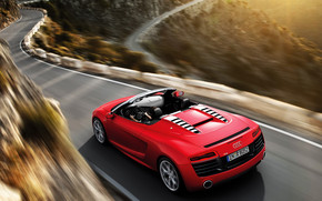 Red Audi R8 Spyder wallpaper