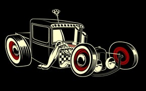 Vintage Car Drawing wallpaper
