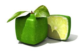 Square Limes wallpaper