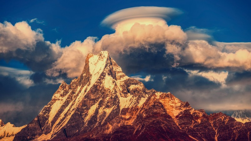 Himalayas Mountains Nepal wallpaper