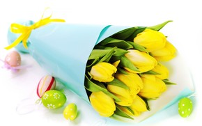 Easter Tulips and Egs wallpaper