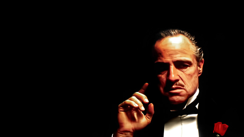 The Godfather Painting wallpaper