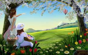 Amazing Spring Painting wallpaper