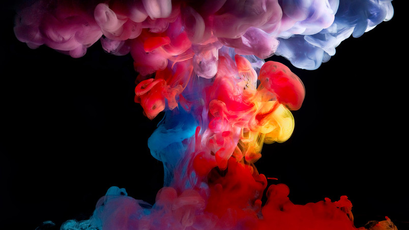 Colored Smoke Paint wallpaper