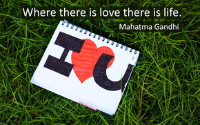Mahatma Gandhi Love and Life wallpaper