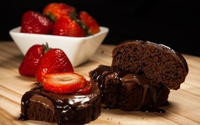 Chocolate and Strawberry Cake wallpaper
