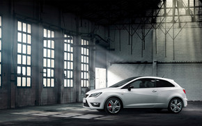 White Seat Ibiza Cupra wallpaper