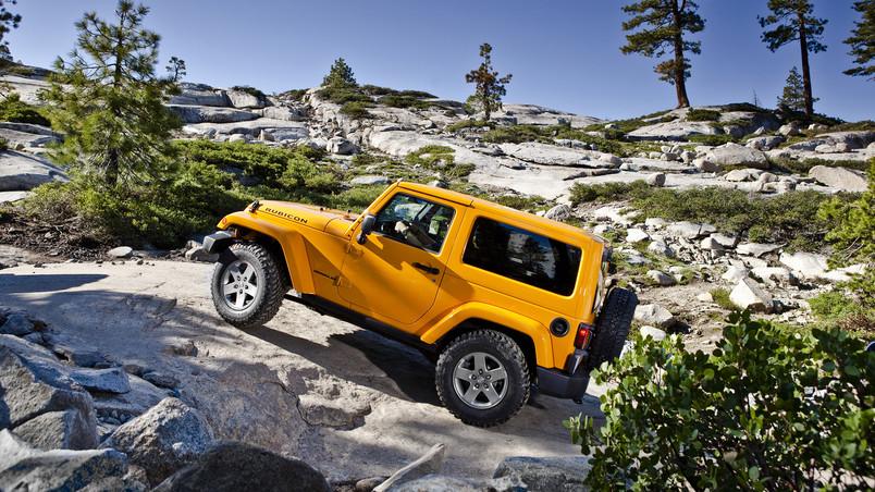 Yellow Jeep Wrangler Hd Wallpaper Wallpaperfx