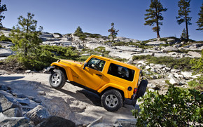 Yellow Jeep Wrangler wallpaper