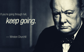 Winston Churchill Quote wallpaper