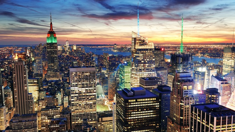 New York Night View Hd Wallpaper Wallpaperfx