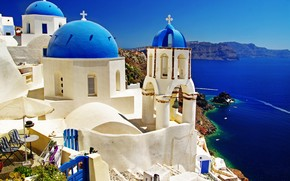 Stunning Santorini View wallpaper