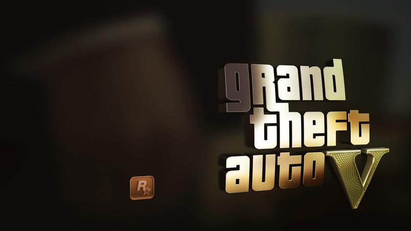 GTA 5 Gold Logo HD Wallpaper