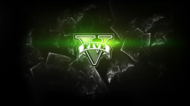 Grand Theft Auto 5 Logo wallpaper