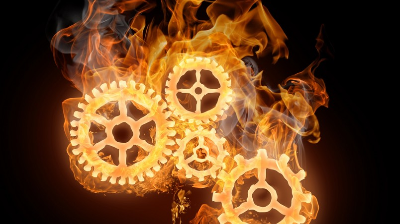 Wheels on Fire wallpaper