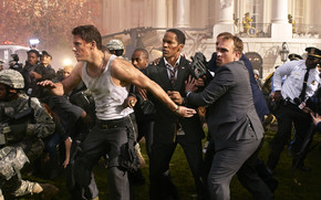 White House Down Scene wallpaper