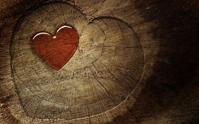 Wood Heart wallpaper