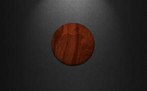Apple Wood Logo wallpaper