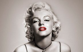 Marilyn Monroe Red Lips wallpaper