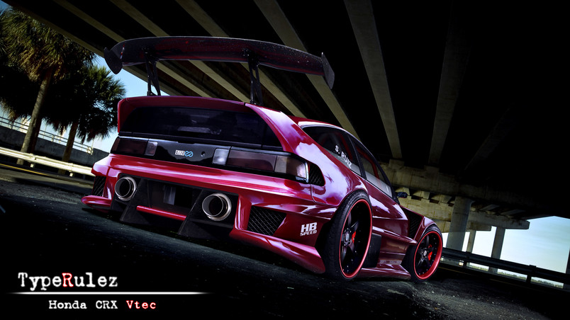 honda crx vtec hd wallpaper wallpaperfx. Black Bedroom Furniture Sets. Home Design Ideas